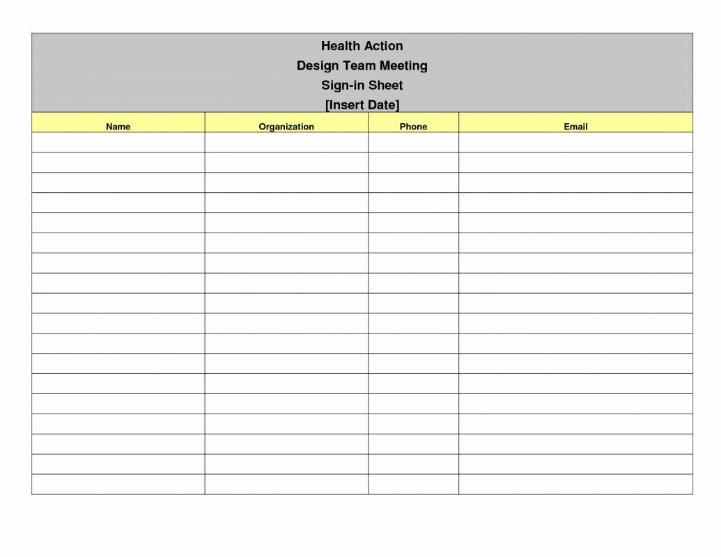 Event Sign In Sheet Template Beautiful Meeting Sign In Sheet