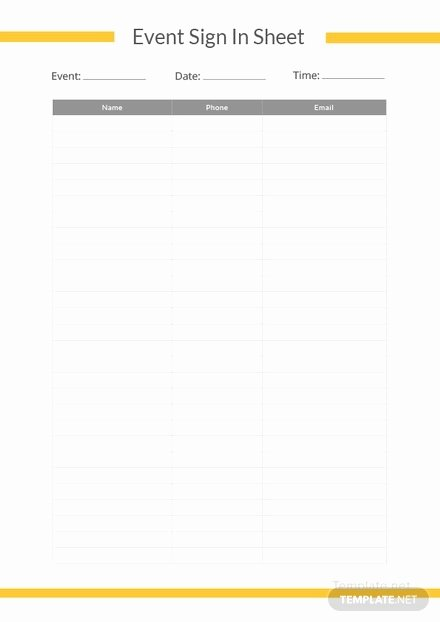 Event Sign In Sheet Template Beautiful Sample Sign Up Sheet Template In Microsoft Word Pdf