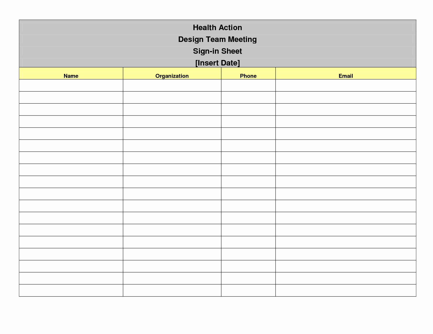 Event Sign In Sheet Template Beautiful Sign In Sheet Template Free