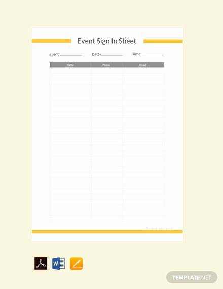 Event Sign In Sheet Template Lovely Free event Run Sheet Template Download 494 Sheets In