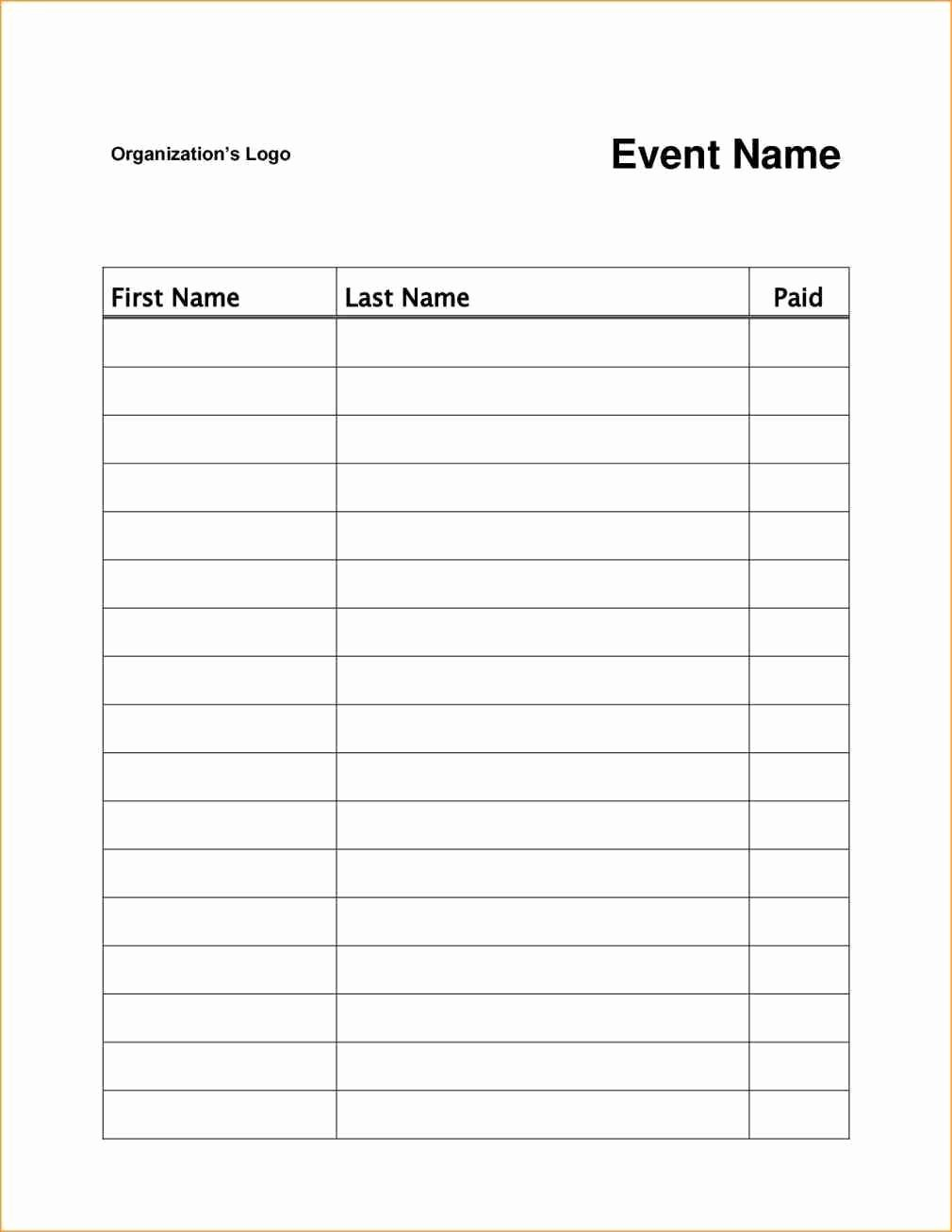 Event Sign In Sheet Template Lovely Pin On Sign Up Sheet Template Word