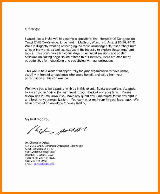 Event Sponsorship Agreement Template Awesome 6 event Sponsorship Letter