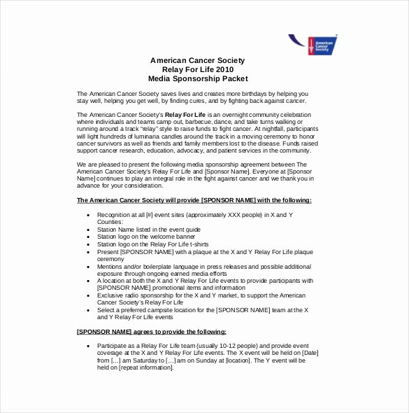 Event Sponsorship Agreement Template New Sponsorship Agreement Template – 12 Free Word Pdf
