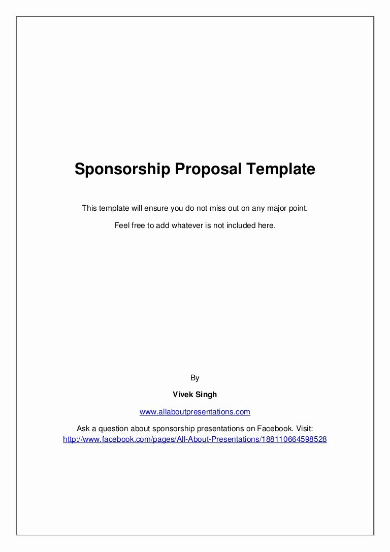 Event Sponsorship Agreement Template New Sponsorship Proposal Template
