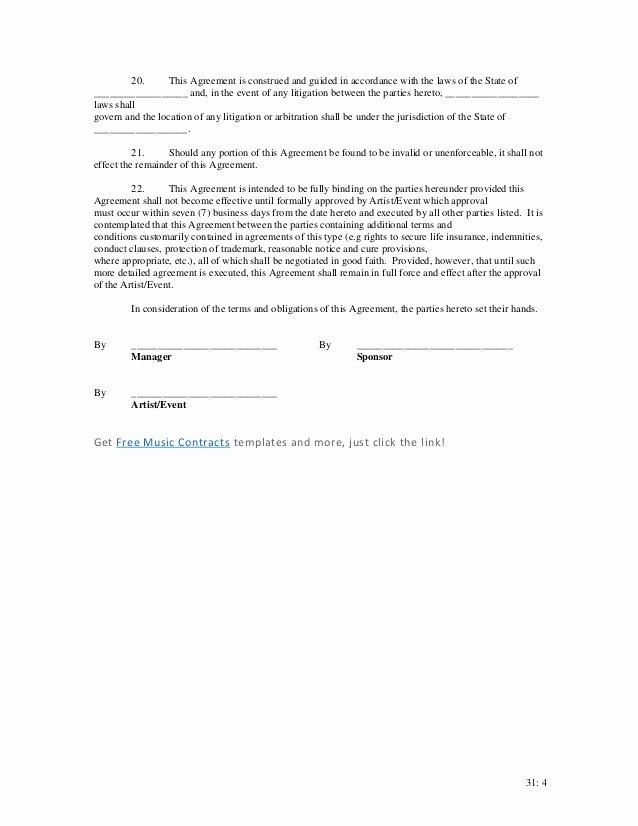 Event Sponsorship Agreement Template Unique event Sponsorship Contract