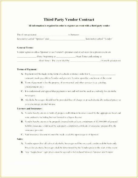 Event Vendor Application Template Beautiful 9 event Vendor Agreement Template Besttemplatess123