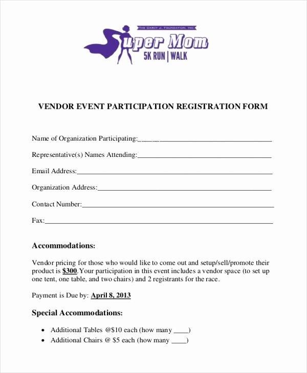 Event Vendor Application Template Elegant Free 10 Sample Vendor event forms In Pdf