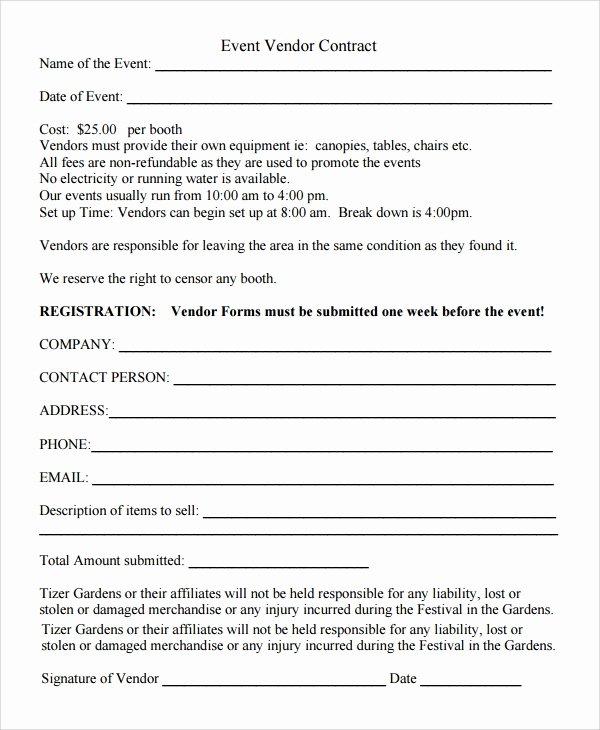 Event Vendor Application Template Inspirational Sample Vendor Registration form 8 Documents In Word Pdf