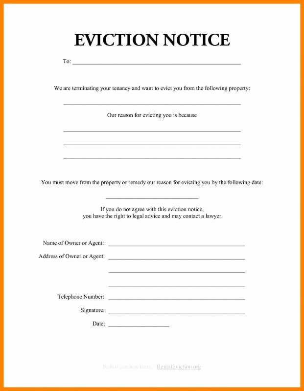 Eviction Notice Template Free Inspirational How to Write An Eviction Notice