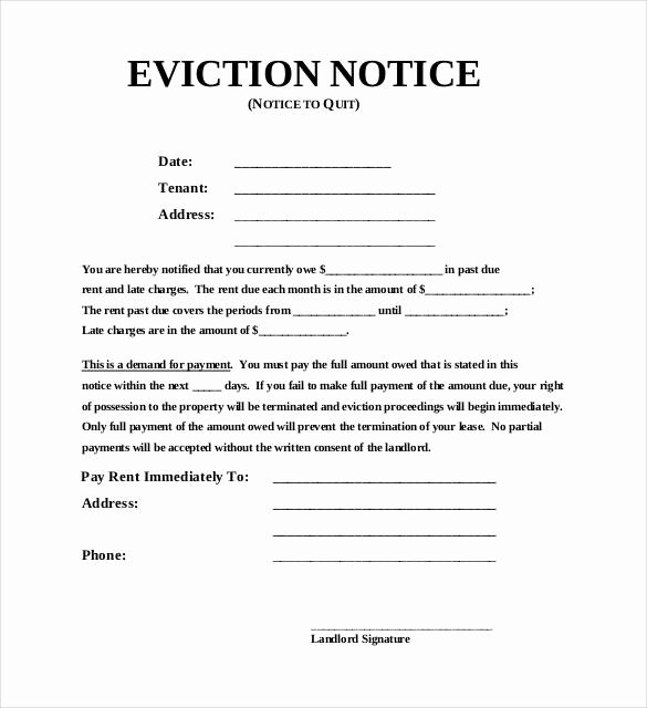 Eviction Notice Template Pdf Inspirational 38 Eviction Notice Templates Pdf Google Docs Ms Word