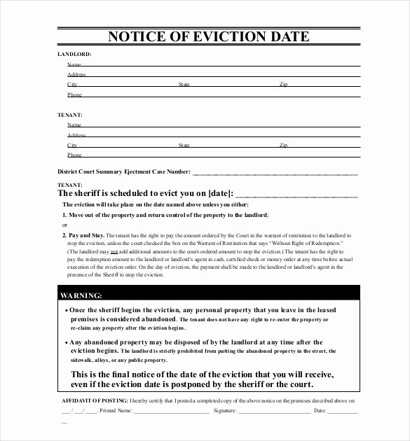 Eviction Notice Template Pdf Lovely 38 Eviction Notice Templates Pdf Google Docs Ms Word