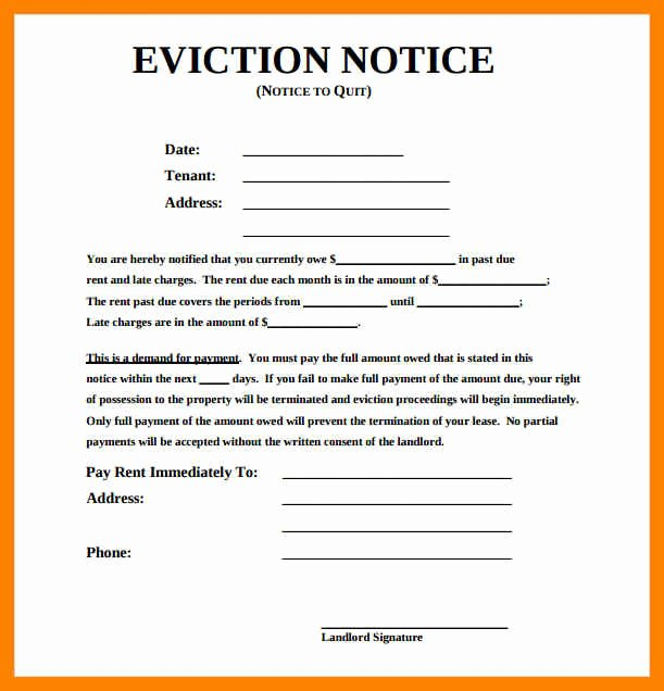 Eviction Notice Template Pdf Luxury Eviction Notice Template