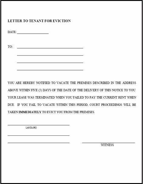 Eviction Notice Template Word Beautiful Blank Free Eviction Notice Template Pdf Word