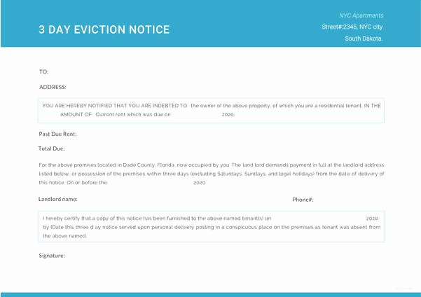 Eviction Notice Template Word Inspirational 37 Eviction Notice Templates Doc Pdf
