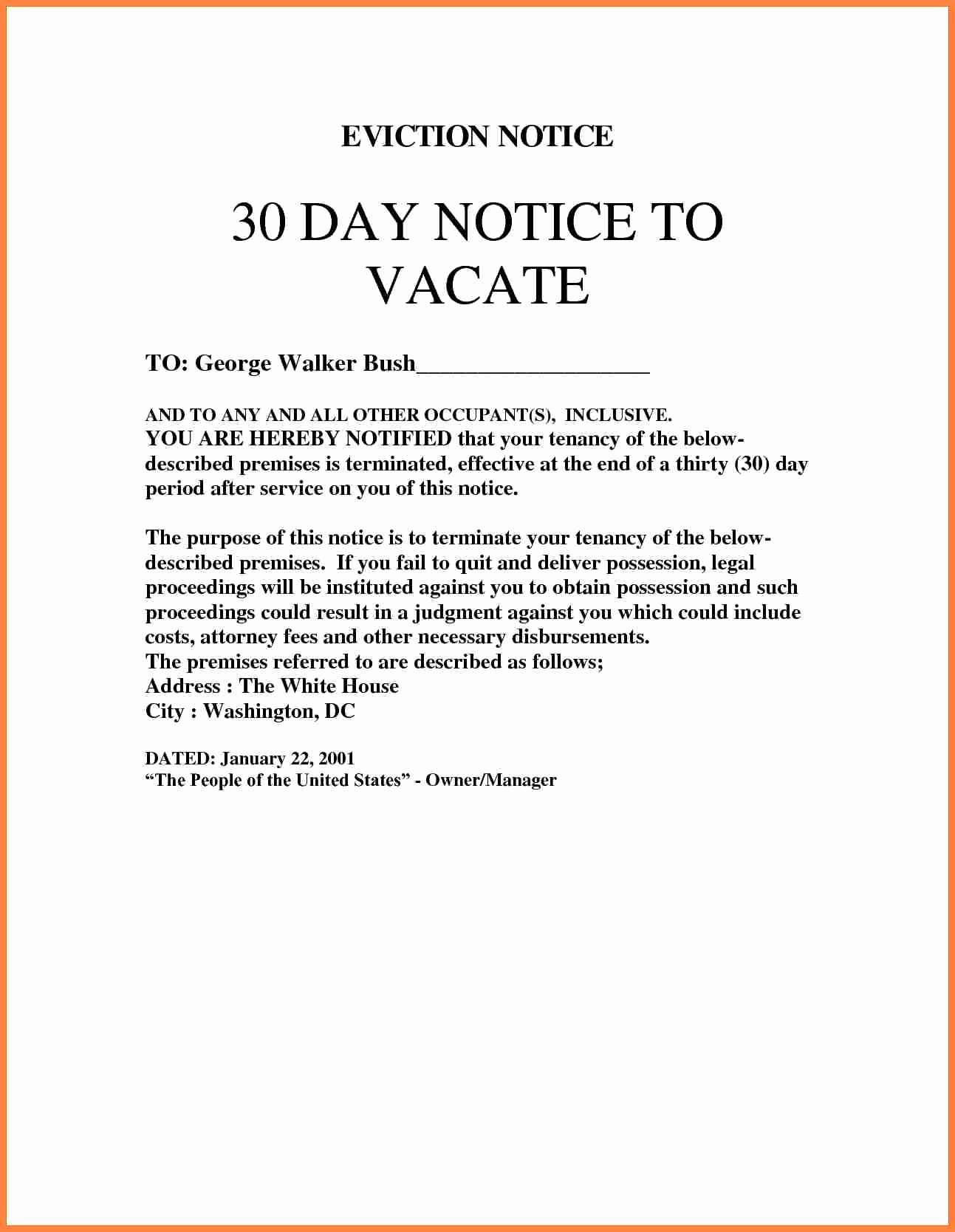 Eviction Notice Template Word New 4 Eviction Notice Template Uk