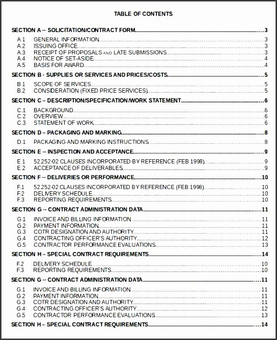 Excel Table Of Contents Template Best Of 6 Ms Word Table Contents Template Sampletemplatess
