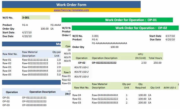Excel Work order Template Awesome Work order Template In Excel Free Download Work order