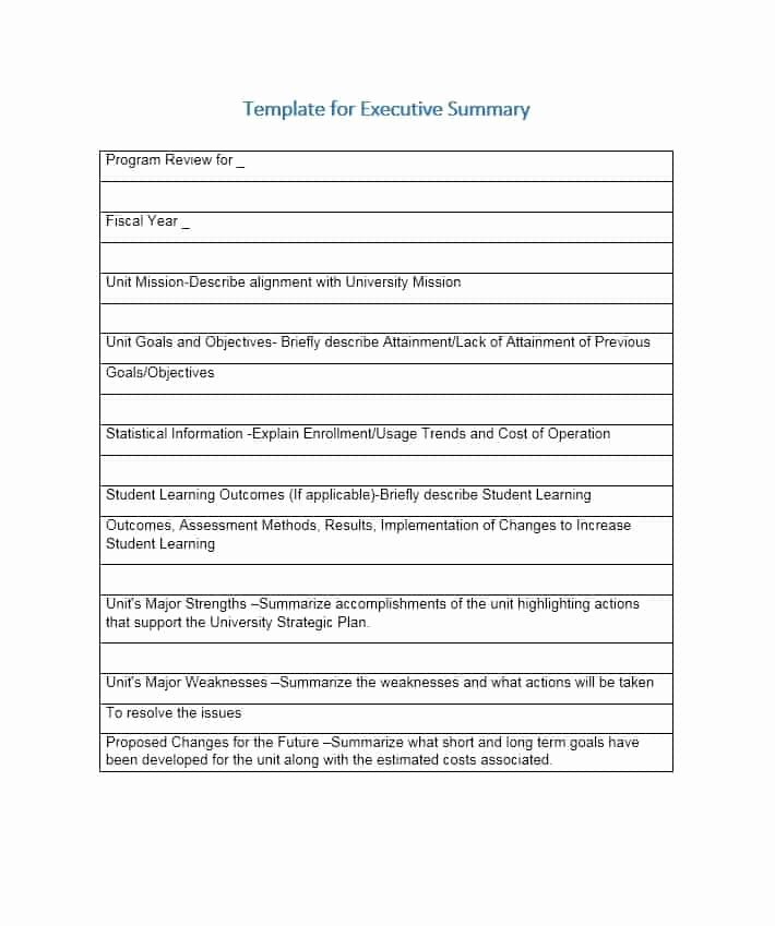 Executive Summary Template Pdf New 5 Free Executive Summary Templates Excel Pdf formats