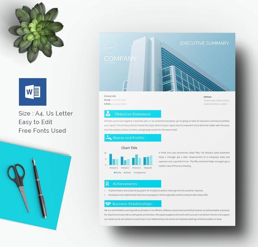 Executive Summary Template Word Luxury 31 Executive Summary Templates Free Sample Example