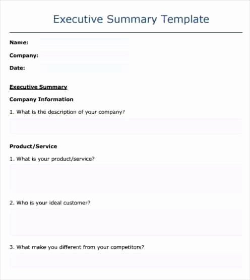 Executive Summary Word Template Best Of 43 Free Executive Summary Templates In Word Excel Pdf