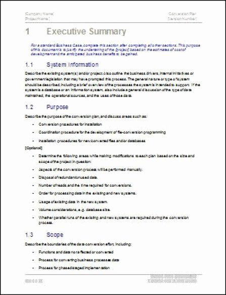 Executive Summary Word Template Fresh 43 Free Executive Summary Templates In Word Excel Pdf