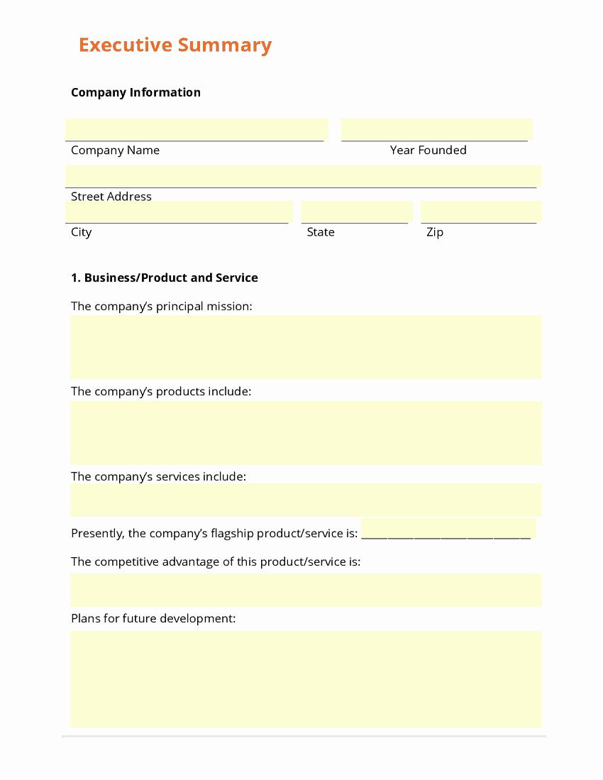 Executive Summary Word Template Fresh 43 Free Executive Summary Templates In Word Excel Pdf