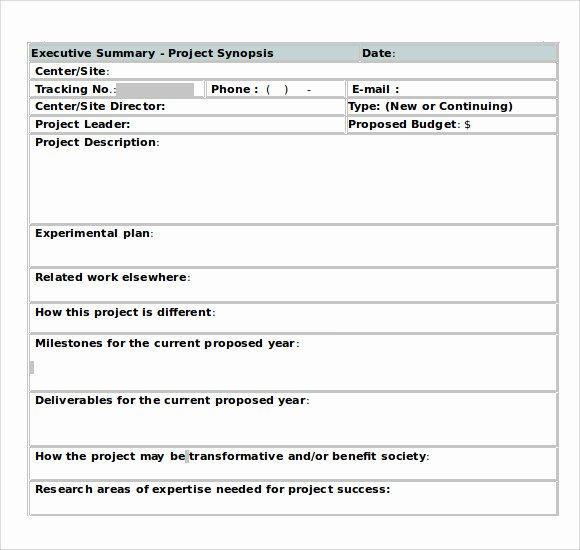 Executive Summary Word Template Fresh Sample Executive Summary Template 8 Documents In Pdf