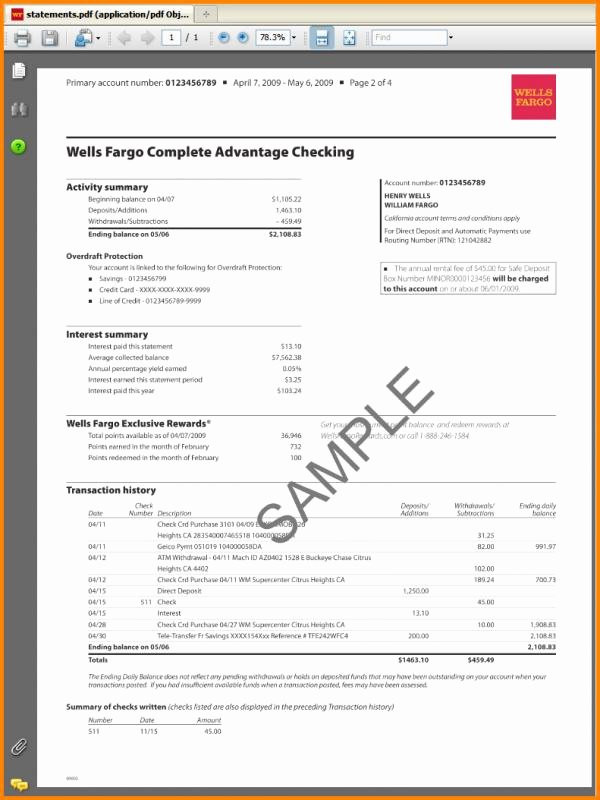 Fake Bank Statement Template Lovely Fake Bank Statement Template