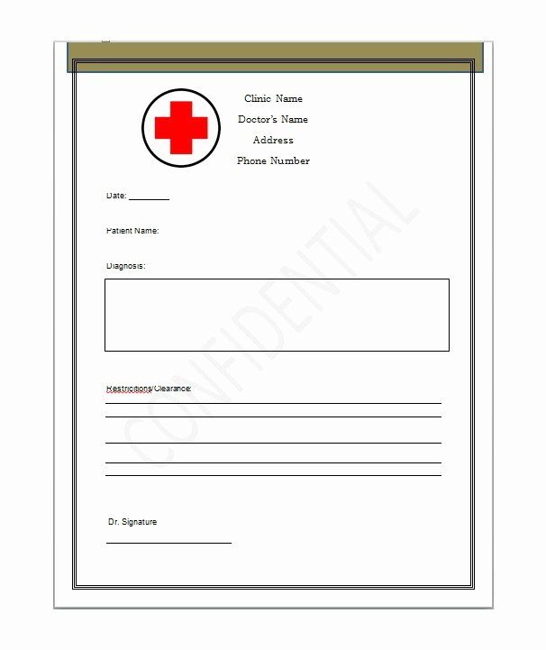 Fake Doctors Note Template Elegant Using A Fake Doctors Note Download Excuse Notes and