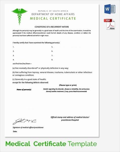 Fake Doctors Note Template Pdf Beautiful Sample Medical Certificate Documents Pdf Word