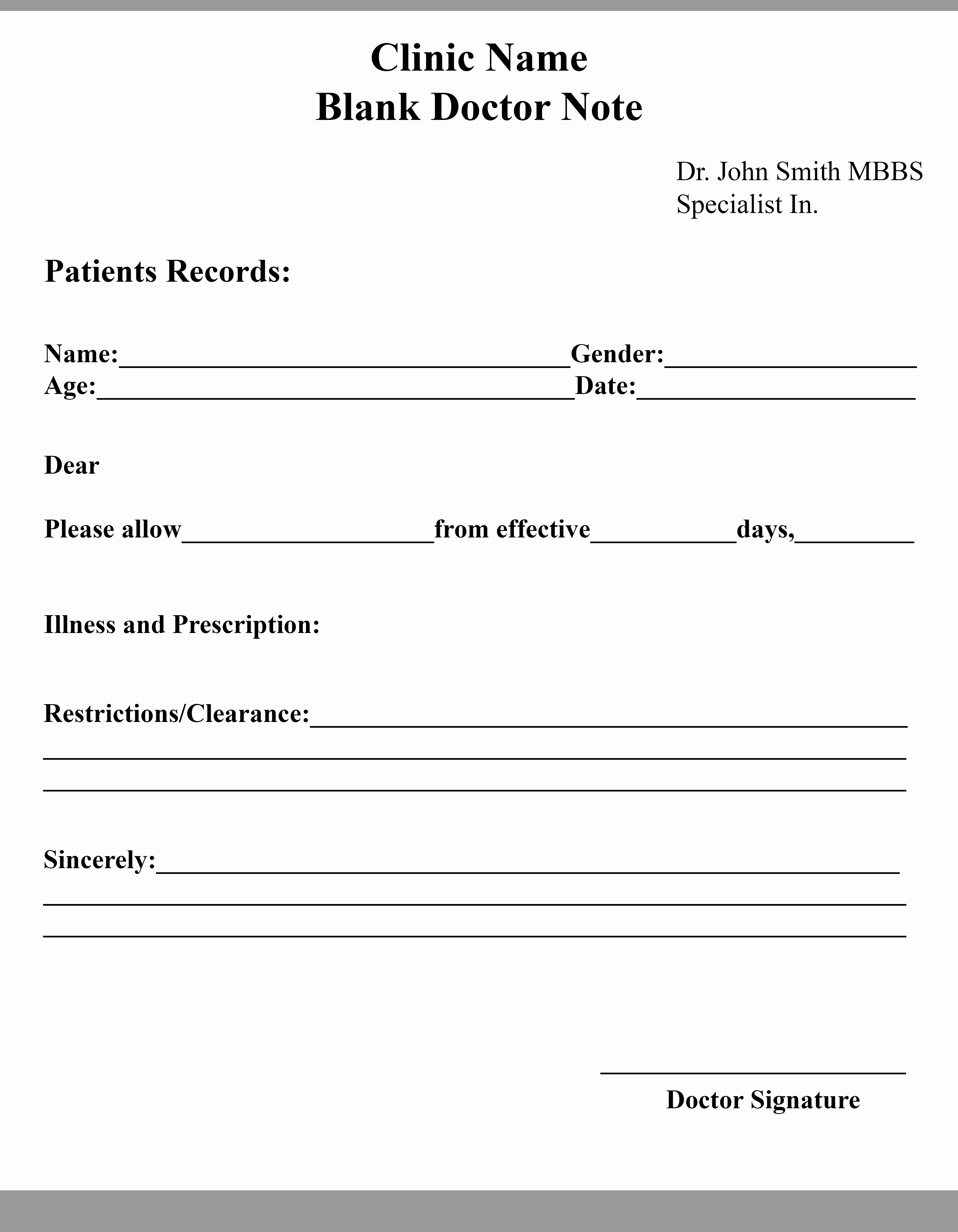 Fake Doctors Note Template Pdf Best Of 15 Free Printable Fake Doctors Note Template for Work