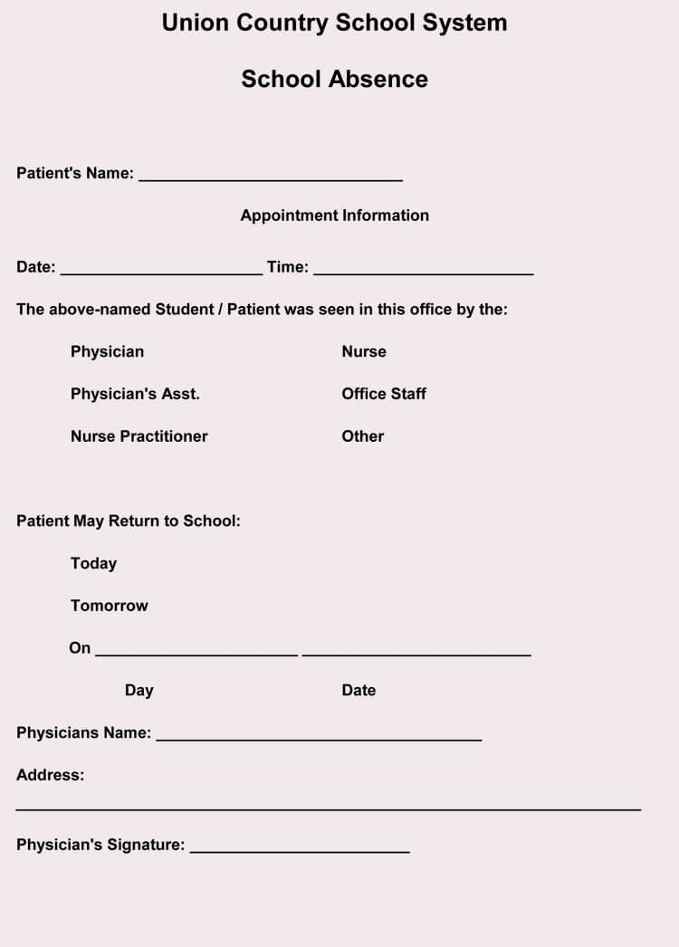 Fake Doctors Note Template Unique Creating Fake Doctor S Note Excuse Slip 12 Templates
