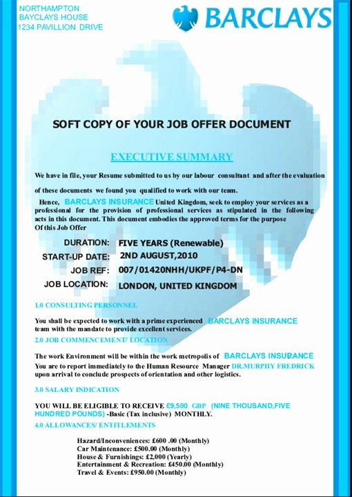 Fake Job Offer Letter Template Beautiful A Scam Tar Ing Job Seekers In India