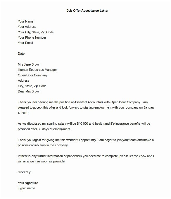 Fake Job Offer Letter Template Best Of Letter Acceptance