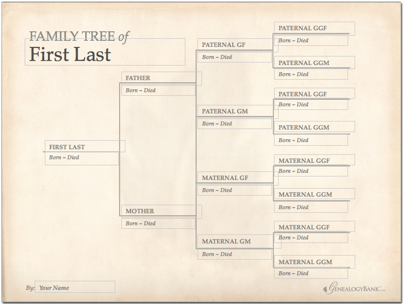 Family Tree Template Editable Awesome Family Tree Template Finder Free Charts for Genealogy