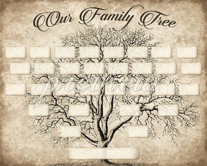 Family Tree Template Free Editable Lovely Custom Family Tree Printable 5 Generation Template Instant