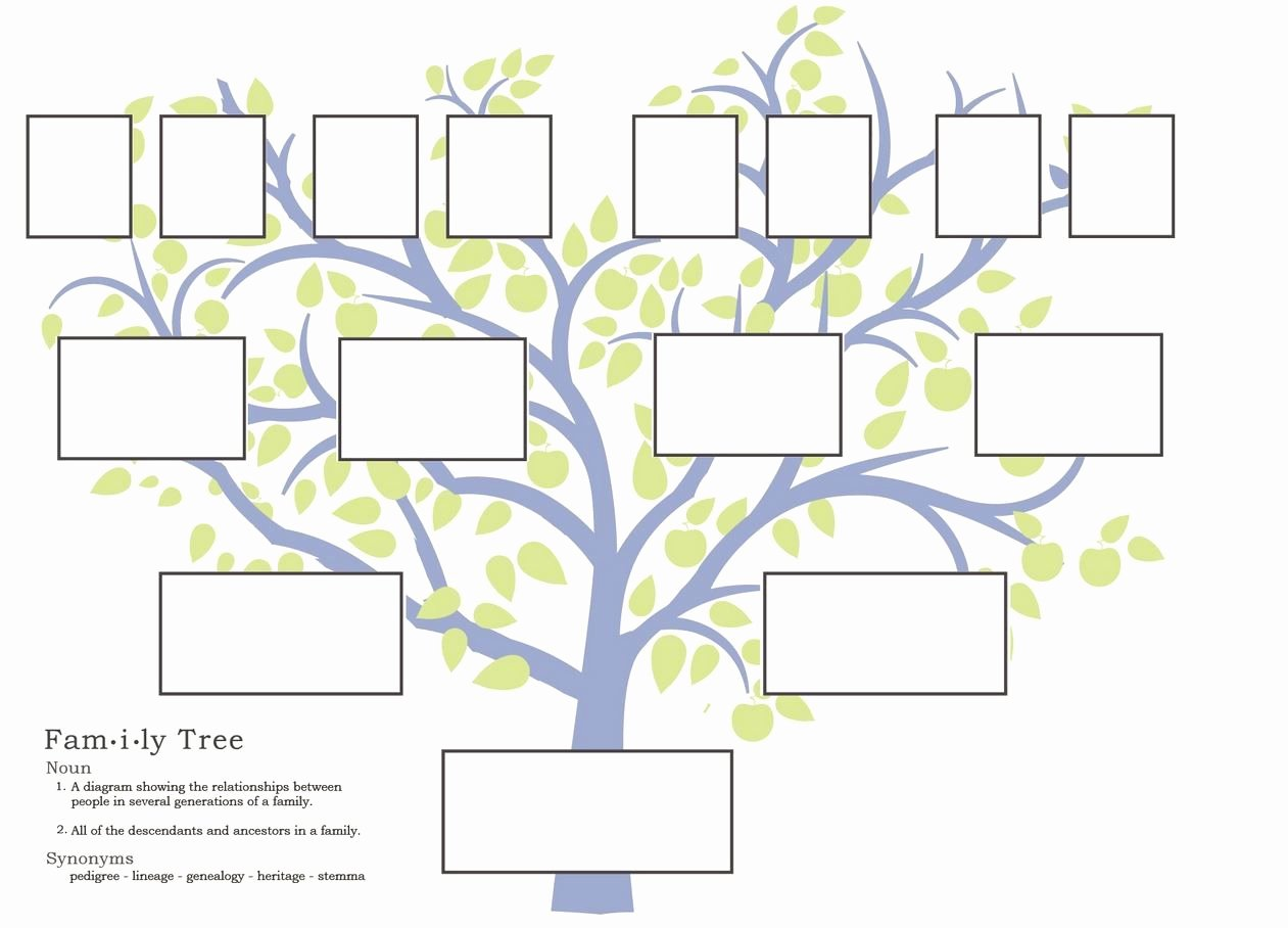 Family Tree Template Free Editable Unique Free Family Tree Template to Print Google Search