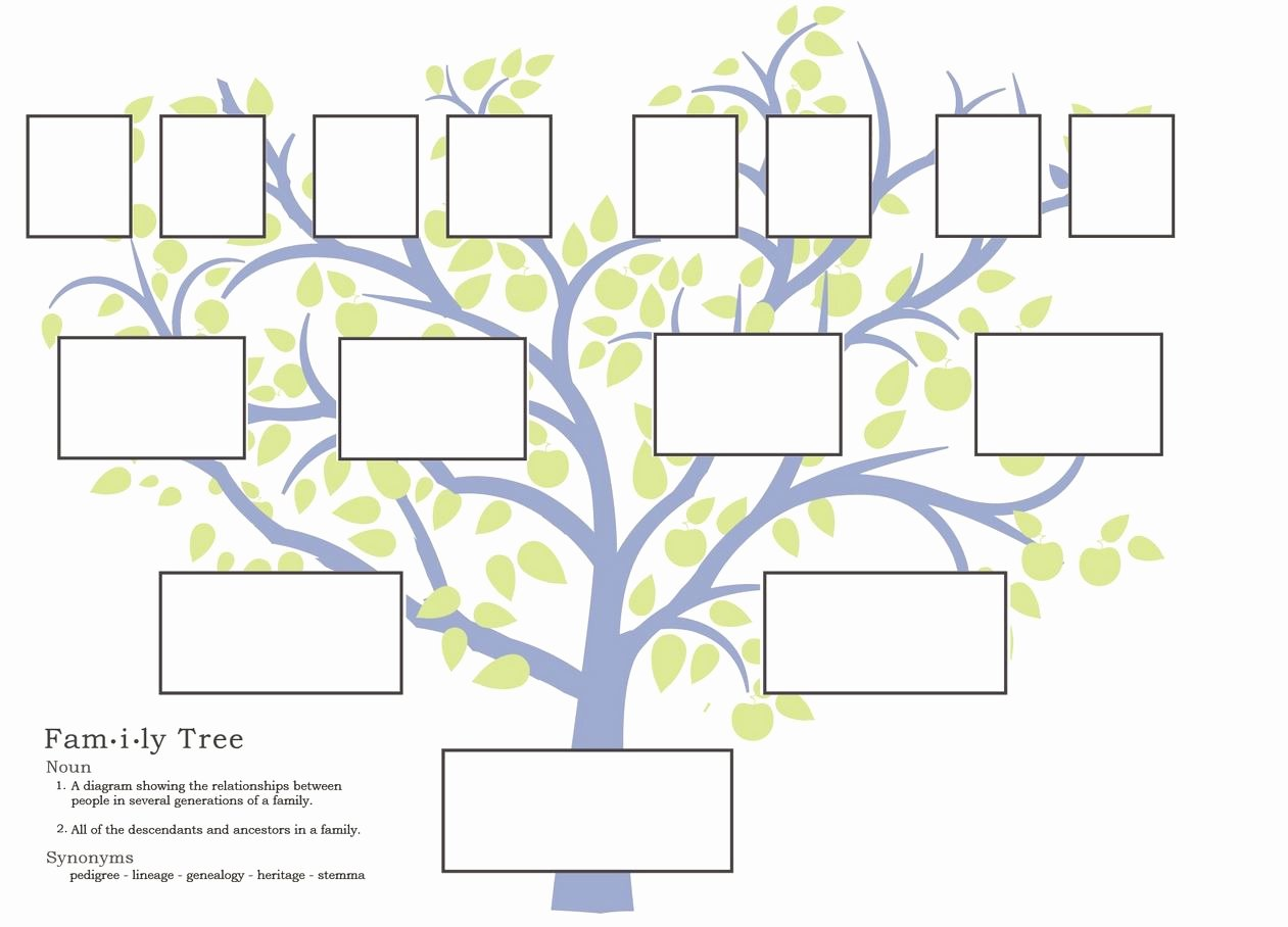 Family Tree Template with Siblings Beautiful Family Tree Template Fotolip