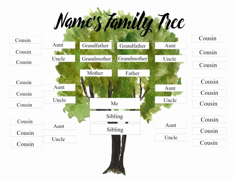 Family Tree Template with Siblings Beautiful Free Editable Family Tree Maker Templates