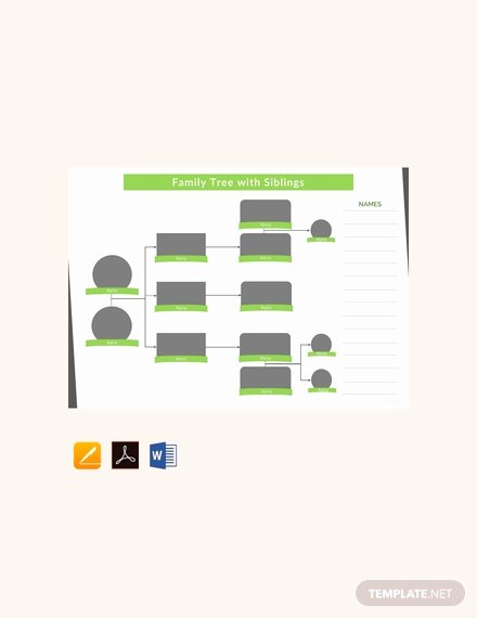 Family Tree Template with Siblings Best Of 19 Family Tree Templates & Examples In Apple Pages