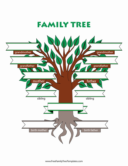 adoptive family tree with siblings template
