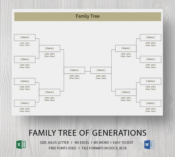 Family Tree Template Word Lovely Blank Family Tree Template 32 Free Word Pdf Documents