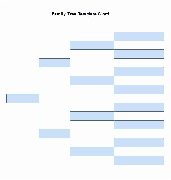 Family Tree Template Word New Word Family Tree Templates