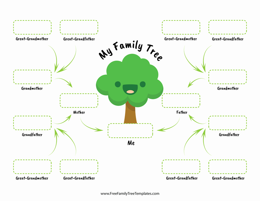 Family Tree Template Word Unique Family Tree for Children – Free Family Tree Templates