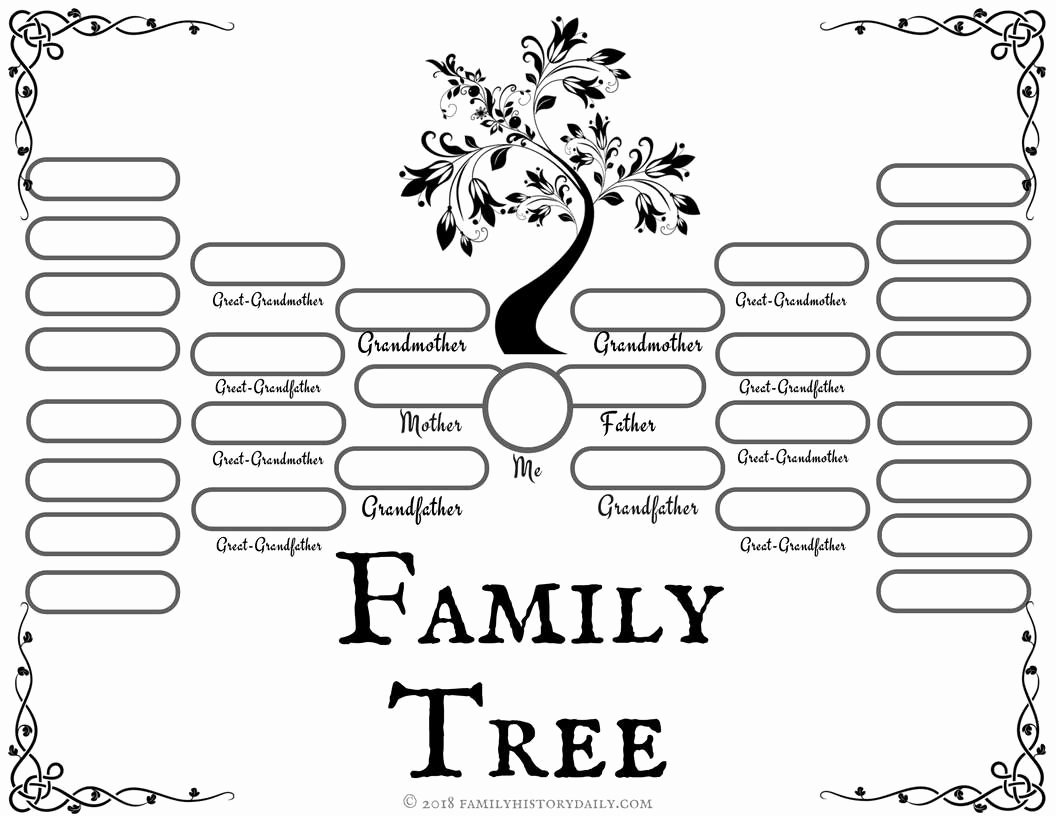 Family Tree with Pictures Template Beautiful 4 Free Family Tree Templates for Genealogy Craft or