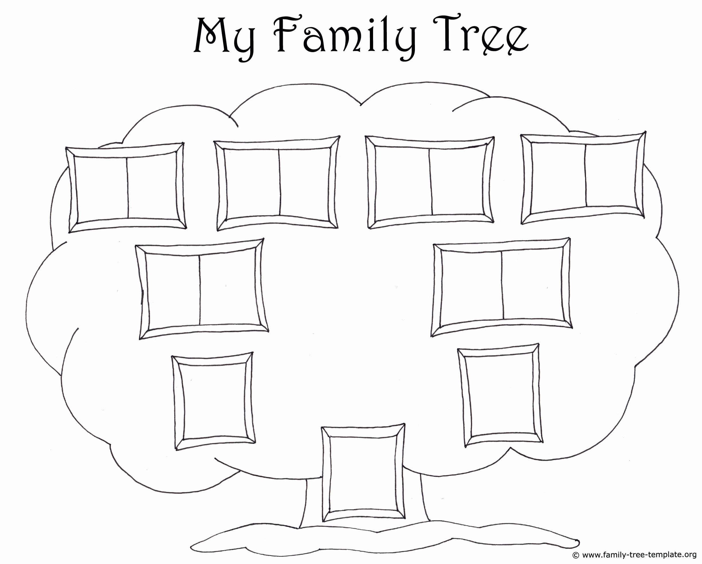 Family Tree with Pictures Template Beautiful Family Tree Template for Kids Printable Genealogy Charts