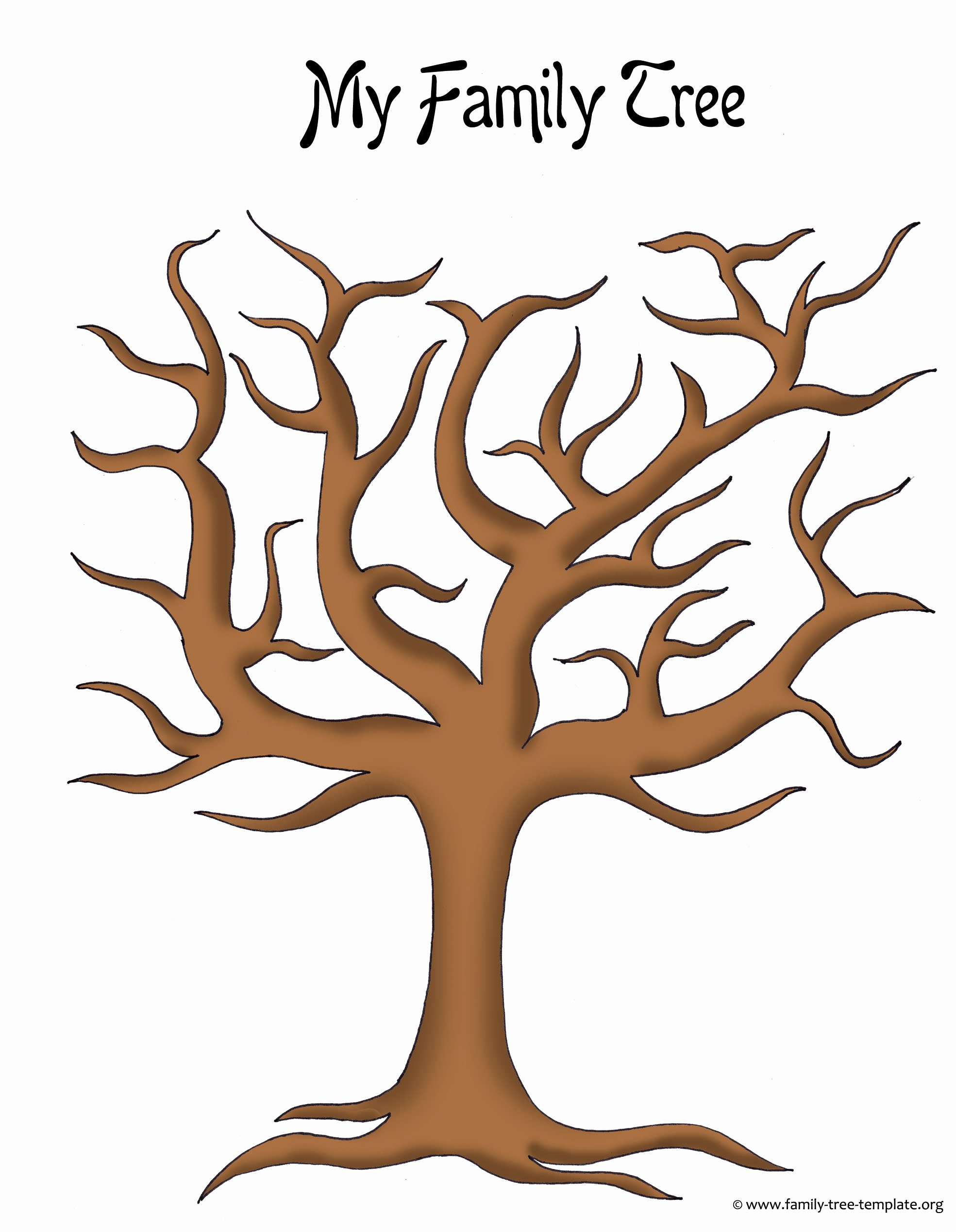 Family Tree with Pictures Template Beautiful Make A Family Tree Easily with these Free Ancestry Charts