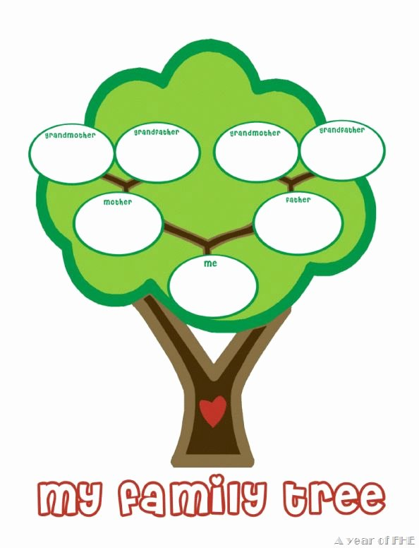 Family Tree with Pictures Template Best Of Preschool Family Tree Template