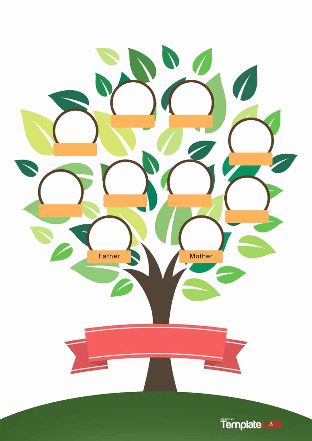 Family Tree with Pictures Template Elegant 50 Free Family Tree Templates Word Excel Pdf