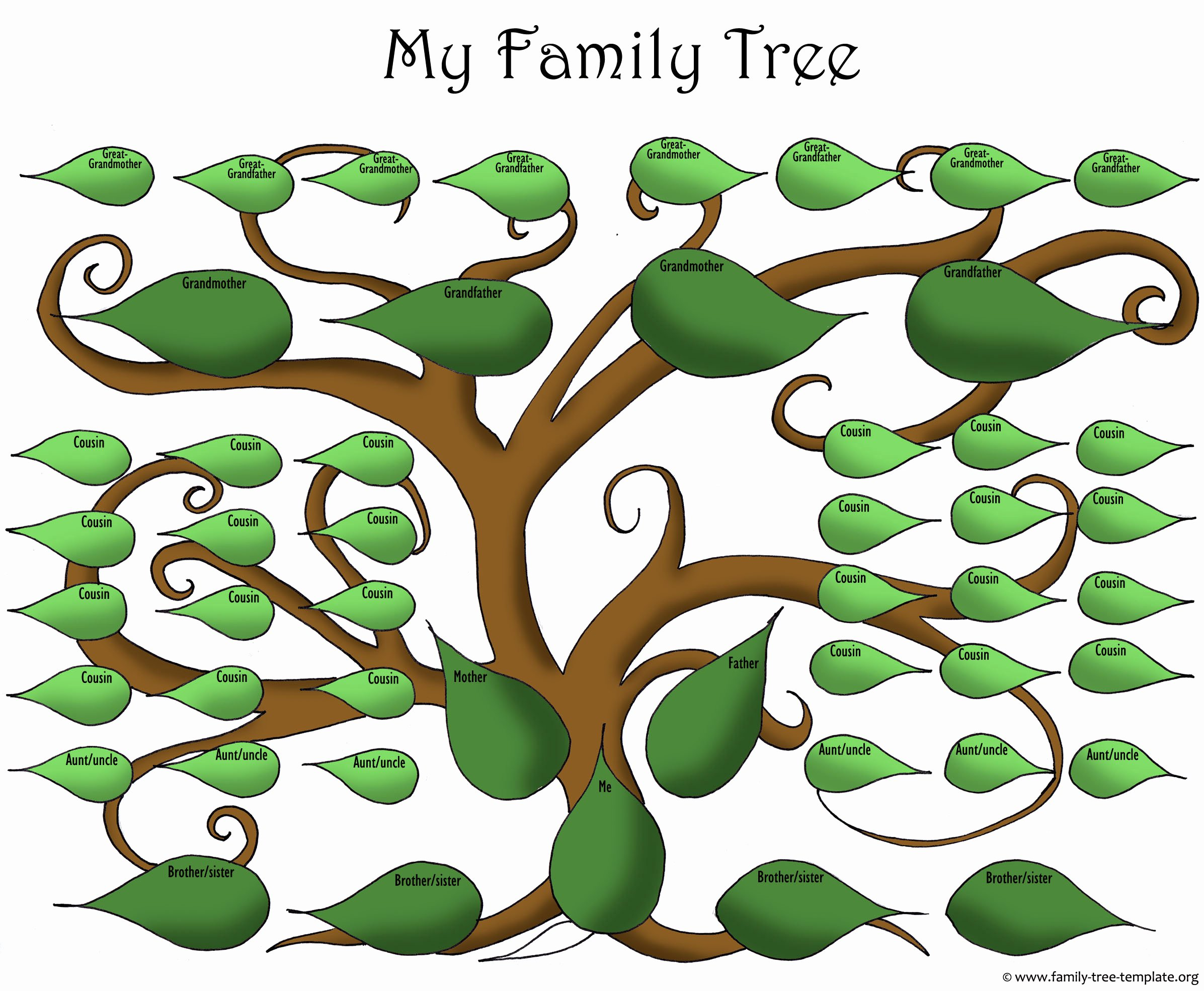 Family Tree with Pictures Template Elegant A Printable Blank Family Tree to Make Your Kids Genealogy